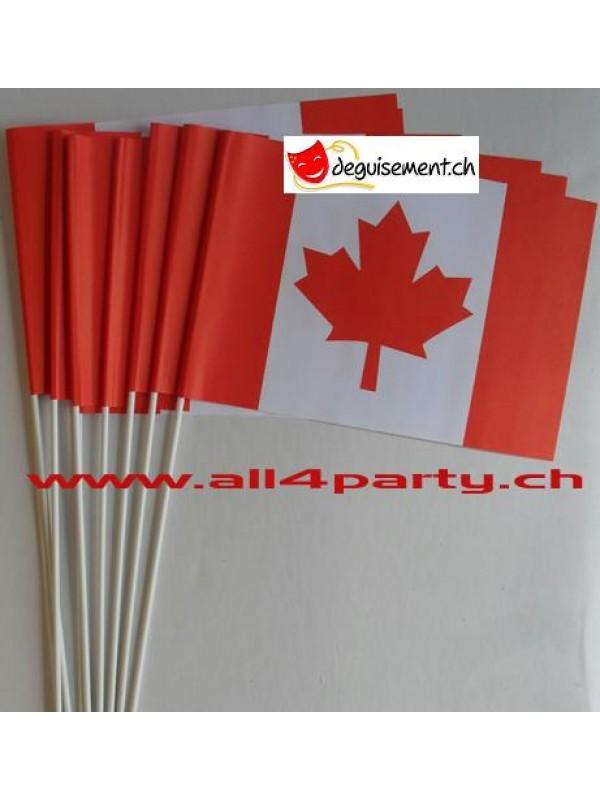 10 drapeaux Canada 14x21cm