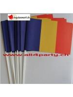 10 drapeaux Romanie 14x21cm