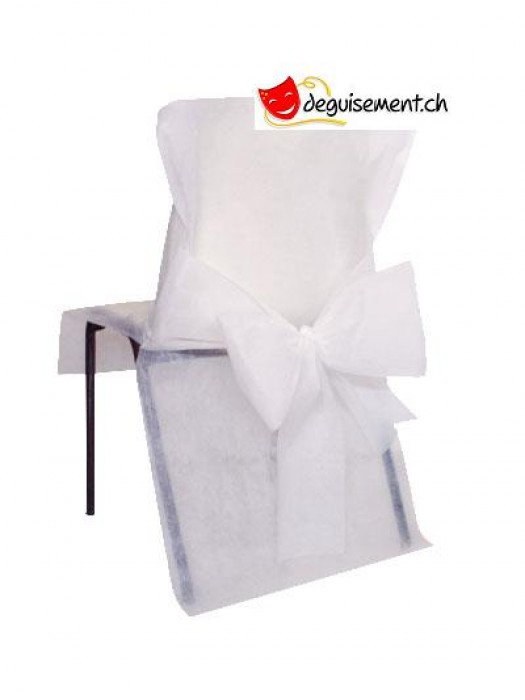 10 housse de chaises - blanc - pour anniversaire, mariage...