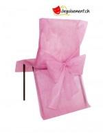 10 housse de chaises - rose - pour anniversaire, mariage...