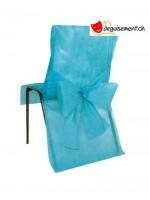 10 housse de chaises - turquoise - pour anniversaire, mariage...