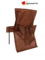 10 housses de chaise chocolat - pour anniversaire, mariage...