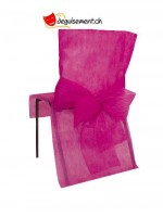10 housses de chaise fuchsia - pour anniversaire, mariage...