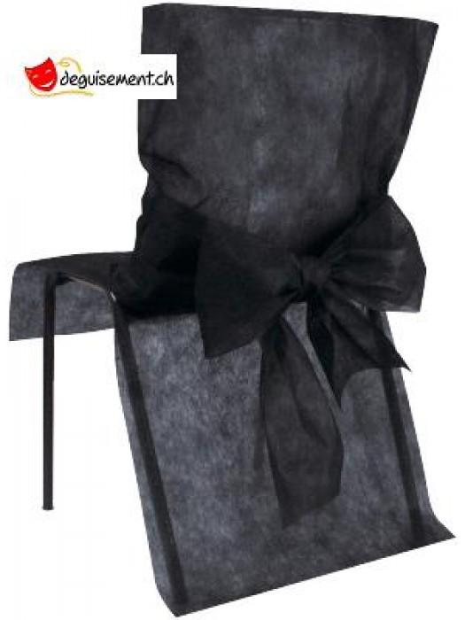 10 housses de chaise - noir - pour anniversaire, mariage...