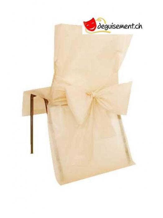 10 housses de chaises ivoire pour mariage, anniversaire,...