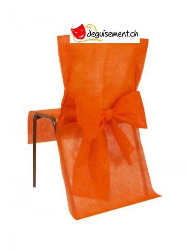 10 housses de chaises - orange - pour mariage, anniversaire,...