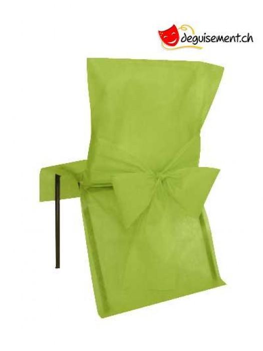 10 housses de chaises - vert - pour mariage, anniversaire,...