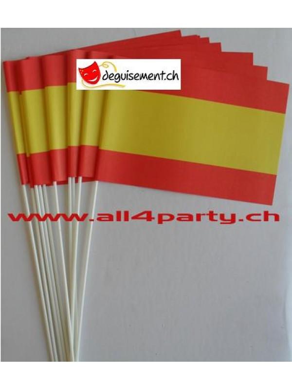 10 drapeaux Espagne 14x21cm