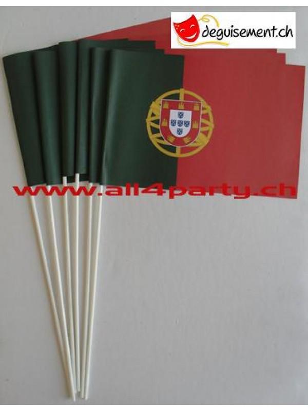 10 drapeaux Portugal 14x21cm