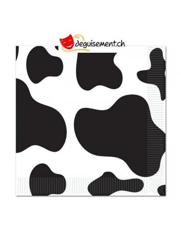 16 serviettes vache
