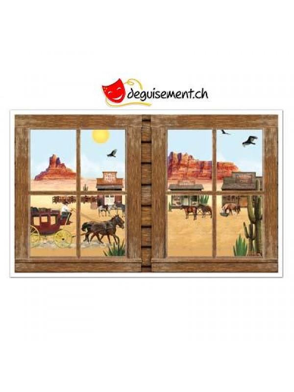 2 Western Window Props