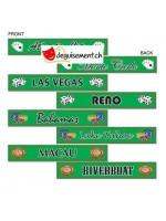 4 panneaux indication Las Vegas