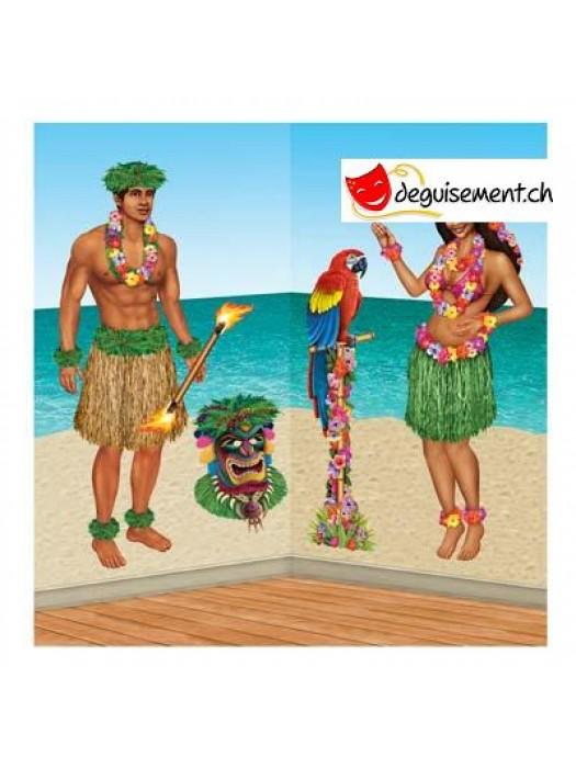 5 décorations luau, tropical, hawaiienne,...