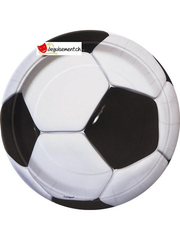 8 assiettes 3D Soccer