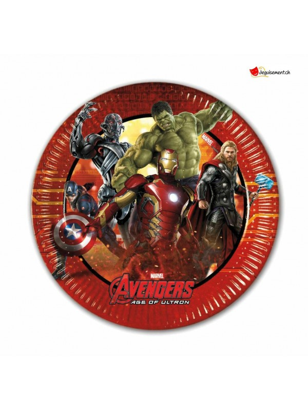 Assiettes Avengers - 19.5cm - 8 pces