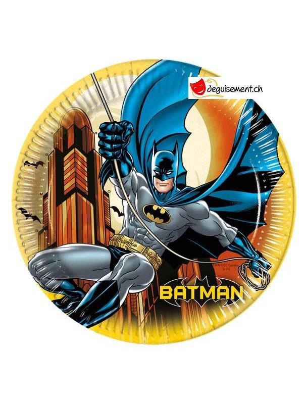 Assiettes cartons Batman - 23cm - 8pces