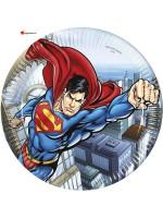 Assiettes cartons Superman - 23cm - 8pces
