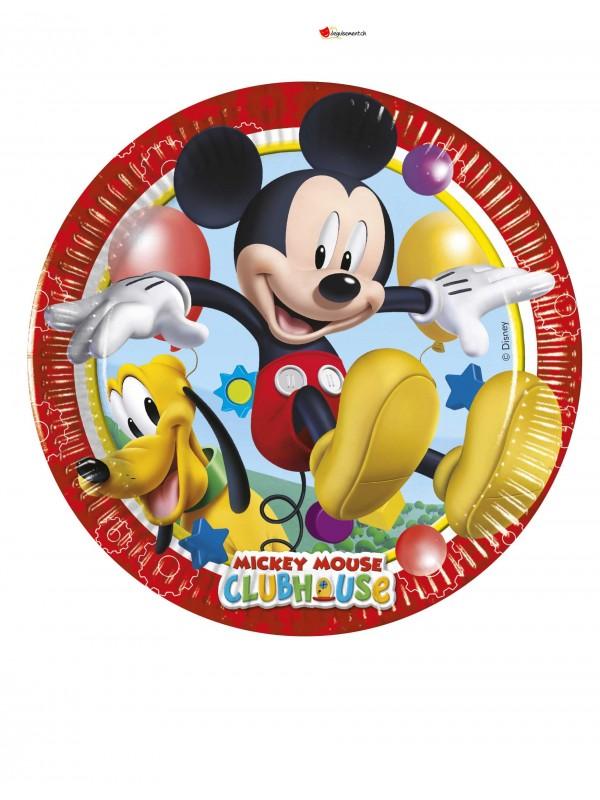 Assiettes Mickey - 19.5cm - 8 pces