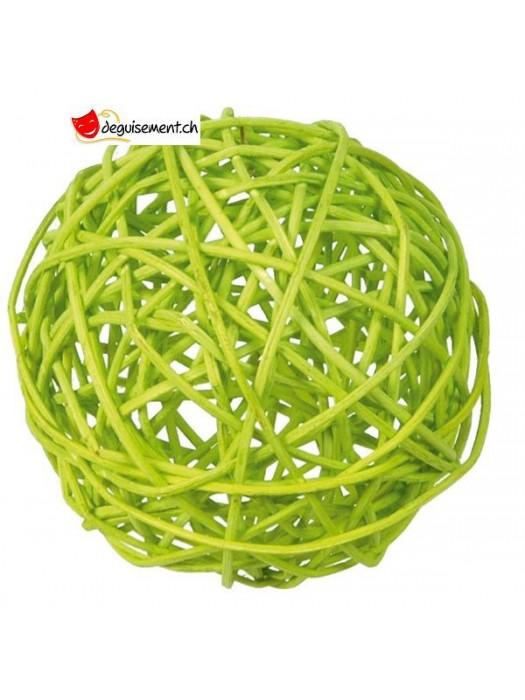 Assot. boules rotin vert