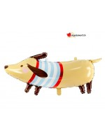 Aluminium balloon dog - dachshund