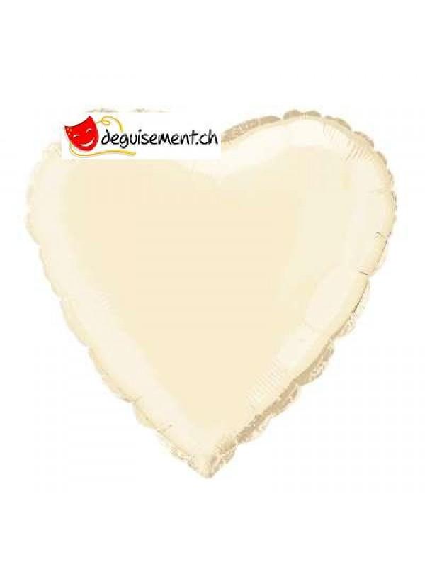 Ballon alu coeur ivoire - 45.7 cm