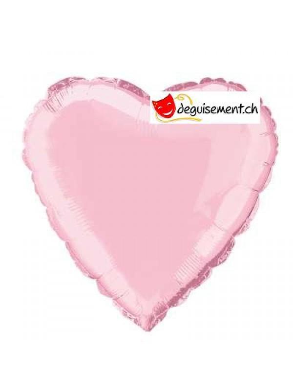 Ballon alu coeur rose clair - 45.7 cm