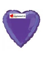 Ballon alu coeur violet - 45.7 cm