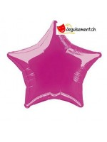 Ballon alu étoile fuchsia - 50cm