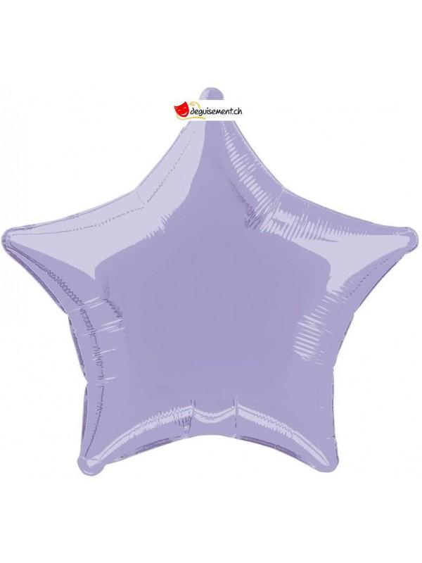 Ballon alu étoile lila - 50cm