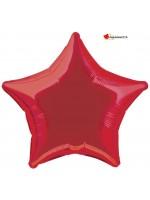 Ballon alu étoile rouge - 50cm