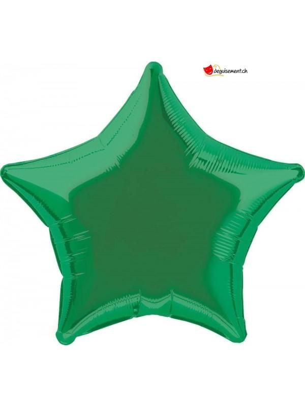 Ballon alu étoile vert foncé - 50cm