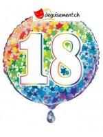 Ballon alu rond 18 - 45.7 cm