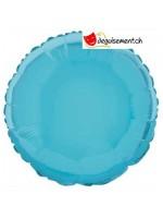 Ballon alu rond bleu clair - 45.7 cm