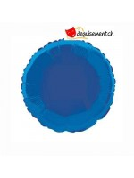Ballon alu rond bleu foncé - 45.7 cm