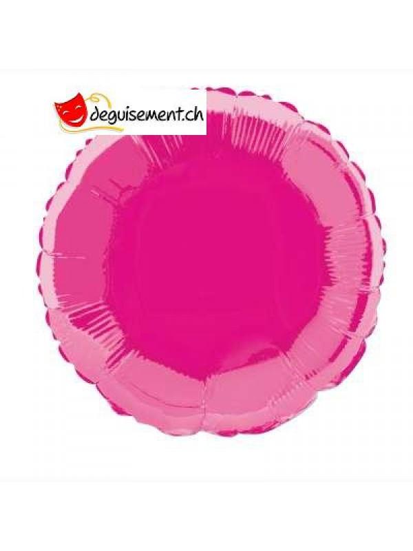 Ballon alu rond fuchsia - 45.7 cm