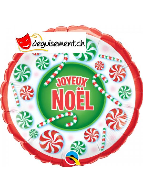 Ballon alu rond Joyeux Noel 46cm