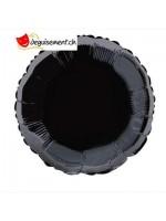 Ballon alu rond noir - 45.7 cm
