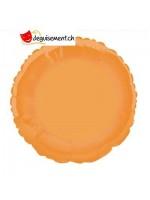 Ballon alu rond orange - 45.7 cm