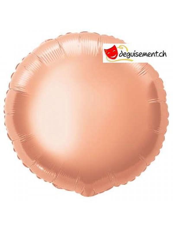 Ballon alu rond rose gold - 45.7 cm