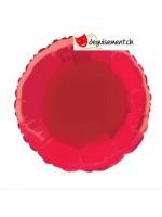 Ballon alu rond rouge - 45.7 cm
