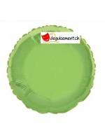 Ballon alu rond vert clair - 45.7 cm