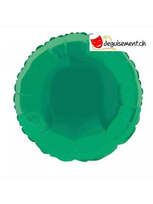 Ballon alu rond vert foncé - 45.7 cm
