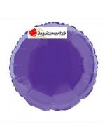 Ballon alu rond violet - 45.7 cm