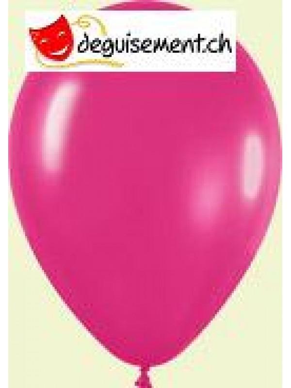 Ballons fuchsia métallique 31cm
