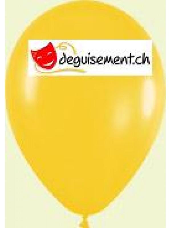 Ballons jaune métallique 30cm