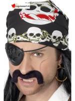 Bandana pirate avec crâne