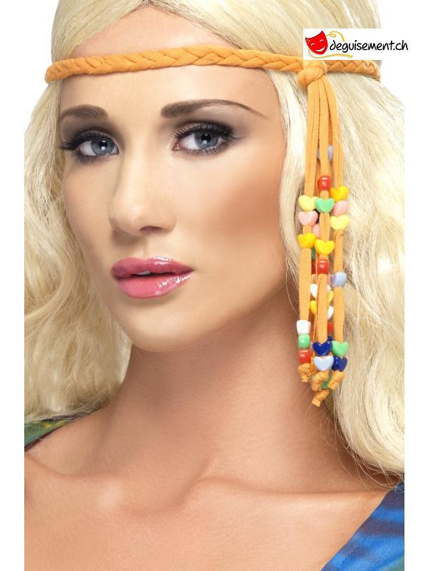 Bandeau hippie avec perles