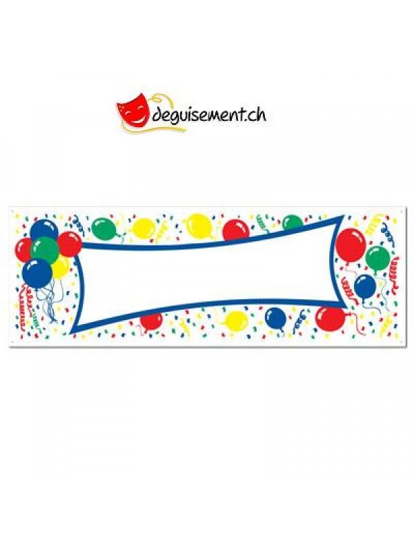 Banniere Happy Birthday nom 150x53cm