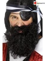 Barbe pirate noir