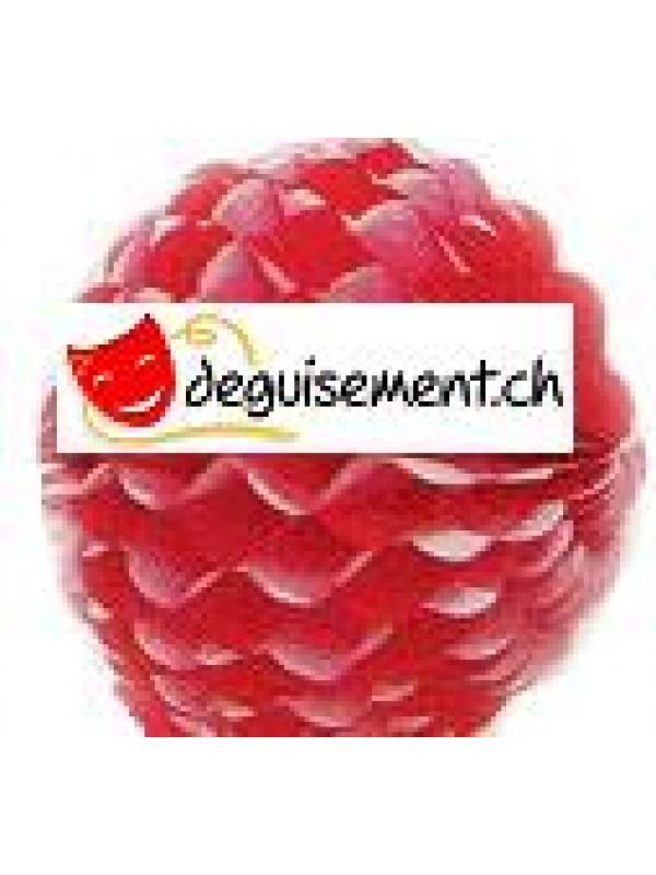 Boule festonnée rouge et blanc 50 cm